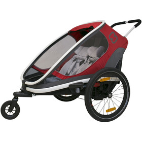 Hamax Outback Fietstrailer, red/grey/black